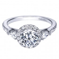 Gabriel 14 Karat Contemporary Engagement Ring ER7506W44JJ