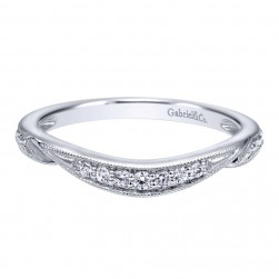 Gabriel 14 Karat Contemporary Wedding Band WB10913W44JJ