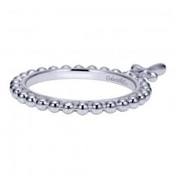 Gabriel Fashion Silver Stackable Stackable Ladies' Ring LR6775-7SVJJJ