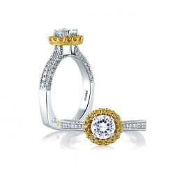A.JAFFE 18 Karat Signature Engagement Ring MES600