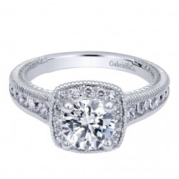 Gabriel 14 Karat Contemporary Engagement Ring ER10281W44JJ