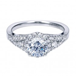 Gabriel 14 Karat Contemporary Engagement Ring ER6545W44JJ