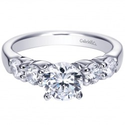 Gabriel 14 Karat Contemporary Engagement Ring ER7848W44JJ
