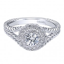 Gabriel 14 Karat Contemporary Engagement Ring ER910144W44JJ