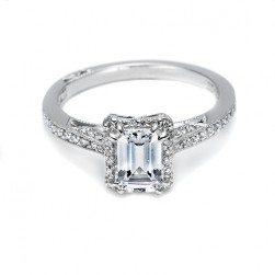 Tacori Platinum Dantela Engagement Ring 2620ECMDP
