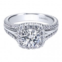 Gabriel 14 Karat Contemporary Engagement Ring ER10249W44JJ