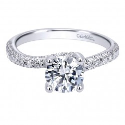 Gabriel 14 Karat Contemporary Engagement Ring ER10295W44JJ