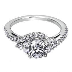 Gabriel 14 Karat Contemporary Engagement Ring ER95568W44JJ