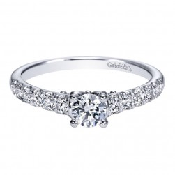 Gabriel 14 Karat Contemporary Engagement Ring ER98676W44JJ