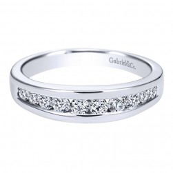 Gabriel 14 Karat Contemporary Wedding Band WB2200W44JJ