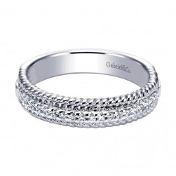 Gabriel 14 Karat Contemporary Wedding Band WB5366W44JJ