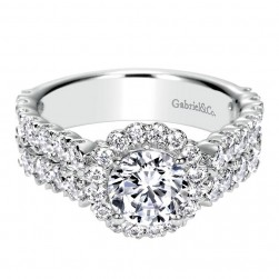 Gabriel 14 Karat Contemporary Engagement Ring ER8905W44JJ