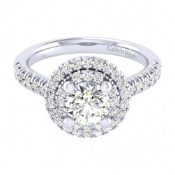 Gabriel 14 Karat Perfect Match Engagement Ring ER039B4AIW44JJ