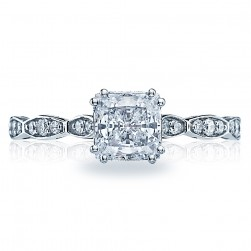 57-2PR55 Platinum Tacori Sculpted Crescent Engagement Ring