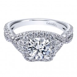 Gabriel 14 Karat Contemporary Engagement Ring ER10192W44JJ