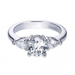 Gabriel 14 Karat Contemporary Engagement Ring ER3804W44JJ