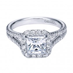 Gabriel 14 Karat Contemporary Engagement Ring ER7262W44JJ