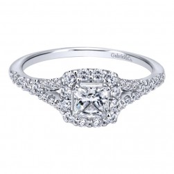 Gabriel 14 Karat Contemporary Engagement Ring ER911791S0W44JJ