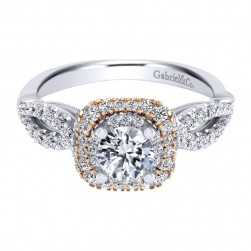 Gabriel 14 Karat Contemporary Engagement Ring ER911877R2T44JJ
