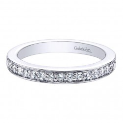 Gabriel 14 Karat Contemporary Wedding Band WB9547W44JJ