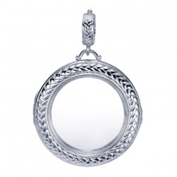 Gabriel Fashion Silver Treasure Chests Pendant PT9408SVJGL