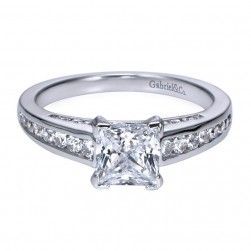 Gabriel 14 Karat Contemporary Engagement Ring ER7885W44JJ
