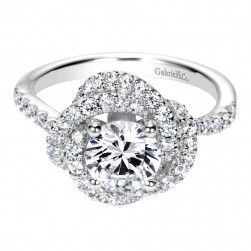 Gabriel 14 Karat Contemporary Engagement Ring ER8143W44JJ