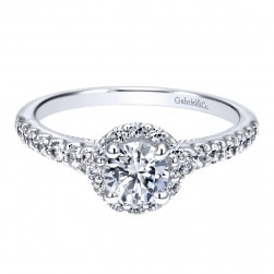Gabriel 14 Karat Contemporary Engagement Ring ER911885R0W44JJ