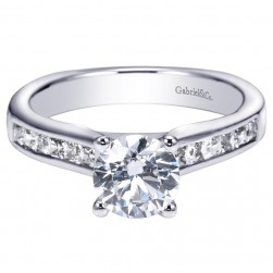 Gabriel 14 Karat Contemporary Engagement Ring ER93965W44JJ