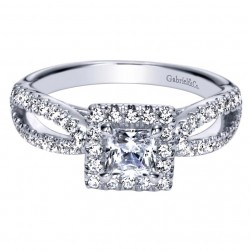 Gabriel 14 Karat Contemporary Engagement Ring ER98743W44JJ