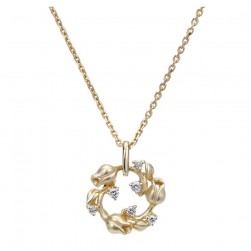 Gabriel Fashion 14 Karat Floral Necklace NK1853Y45JJ