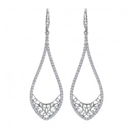 Gabriel Fashion 14 Karat Lace Drop Earrings EG11953W45JJ