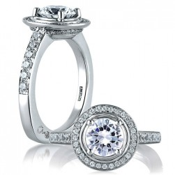 A.JAFFE Platinum Signature Engagement Ring MES588