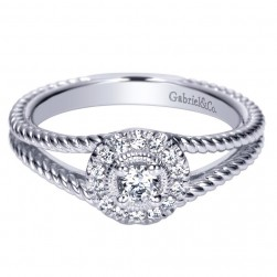 Gabriel 14 Karat Contemporary Engagement Ring ER98437W44JJ
