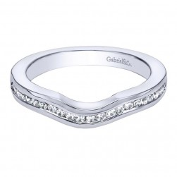 Gabriel 14 Karat Contemporary Wedding Band WB5741W44JJ
