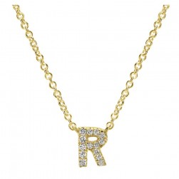 Gabriel Fashion 14 Karat Initial Initial Necklace NK4577R-Y45JJ