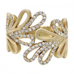 Gabriel Fashion 14 Karat Nature Ladies' Ring LR4547Y44JJ