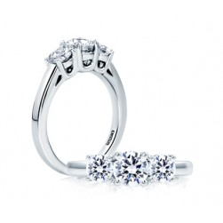 A.JAFFE Platinum Classic Engagement Ring ME1704