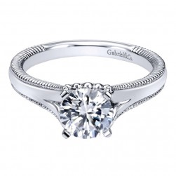 Gabriel 14 Karat Contemporary Engagement Ring ER10186W4JJJ
