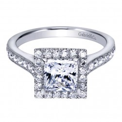 Gabriel 14 Karat Contemporary Engagement Ring ER7279W44JJ
