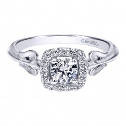 Gabriel 14 Karat Contemporary Engagement Ring ER911729R0W44JJ