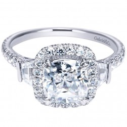 Gabriel 14 Karat Contemporary Engagement Ring ER9191W44JJ