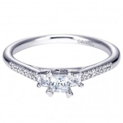Gabriel 14 Karat Contemporary Engagement Ring ER94274W44JJ