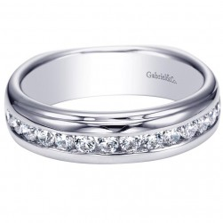 Gabriel 14 Karat Contemporary Wedding Band WB4195W44JJ