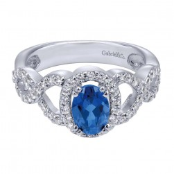 Gabriel Fashion 14 Karat Lusso Color Ladies' Ring LR4654W44SA