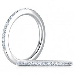 A.JAFFE Classic Platinum Diamond Wedding Ring MR1533 / 25