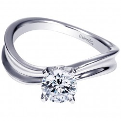 Gabriel 14 Karat Contemporary Engagement Ring ER9086W4JJJ