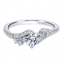 Gabriel 14 Karat Contemporary Engagement Ring ER910074W44JJ