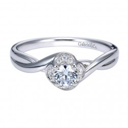 Gabriel 14 Karat Contemporary Engagement Ring ER97773W44JJ