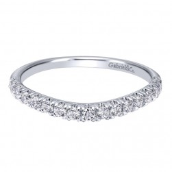 Gabriel 14 Karat Contemporary Wedding Band WB10140W44JJ